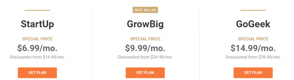 SiteGround - Pricing